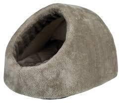 Kattehule grå plysj Lilo 32x26x41cm