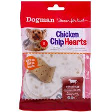 Chicken chip hearts small 30gr