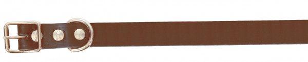 Alac halsbånd lær Mørkebrun 2,2x60cm