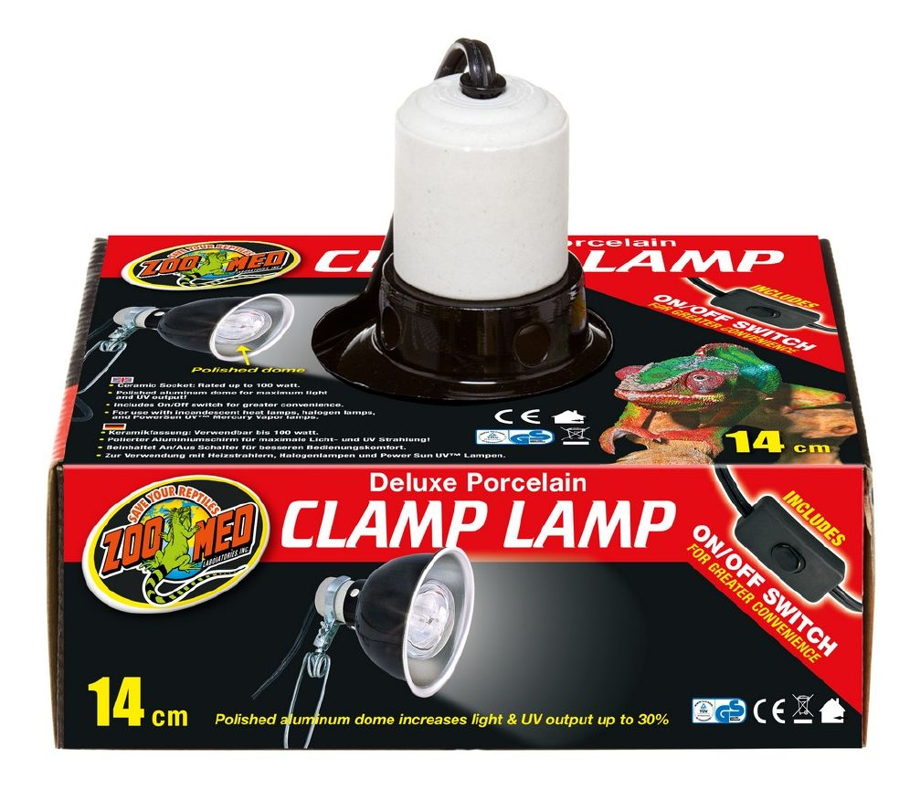Zoo Med Clamp Lamp 14cm Max 100w