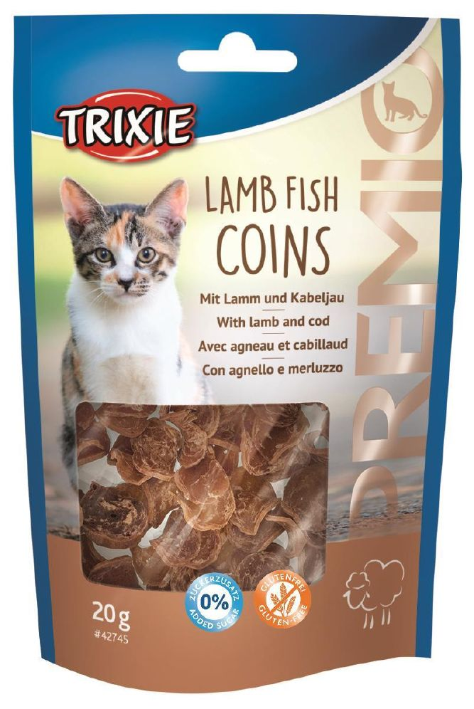 Trixie Lamb fish coins katt