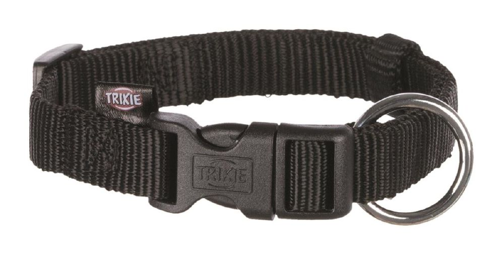 Trixie halsbånd sort S/M nylon 30-45cm