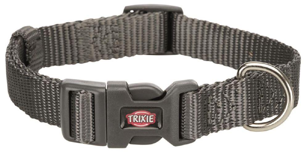 Halsbånd premium 225-40cm/15mm S grå