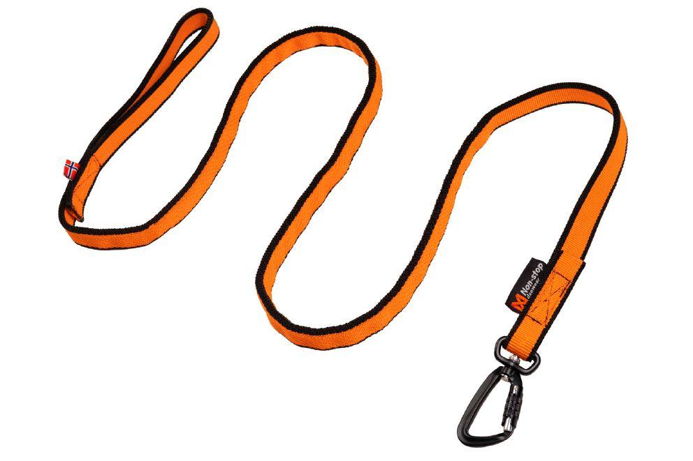 Non-Stop bungee leash oransje 2.8m