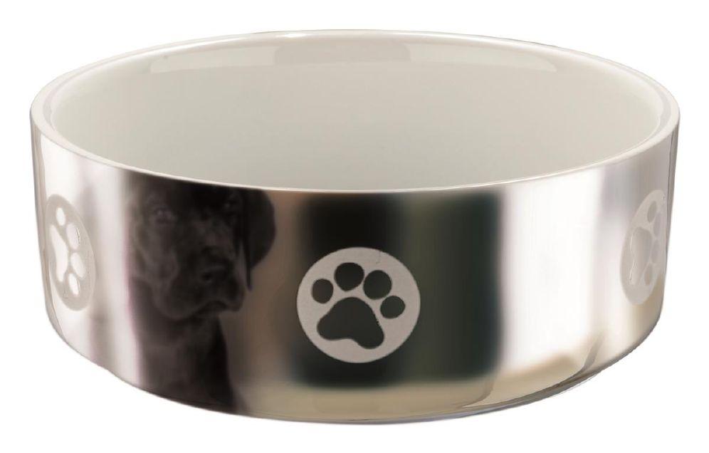 Trixie Hundeskål Keramikk Sølv/Hvit 0,8L