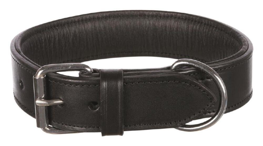 Halsbånd active lær 38-45cm/40mm