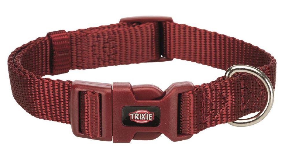 Halsbånd premium m-l 35-55cm burgunder