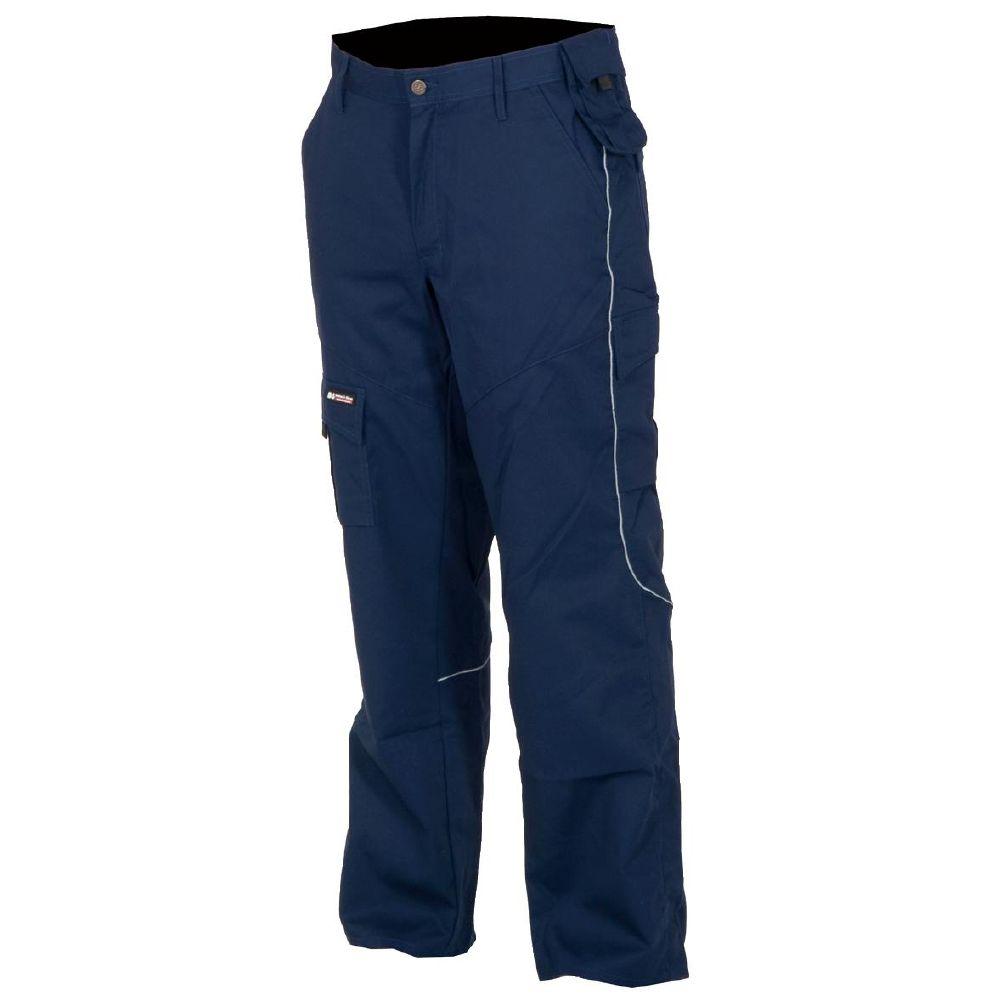 Bukse trav blå XL
