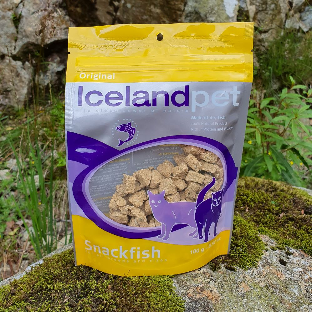 Icelandpet frysetørka snackfish 100gr