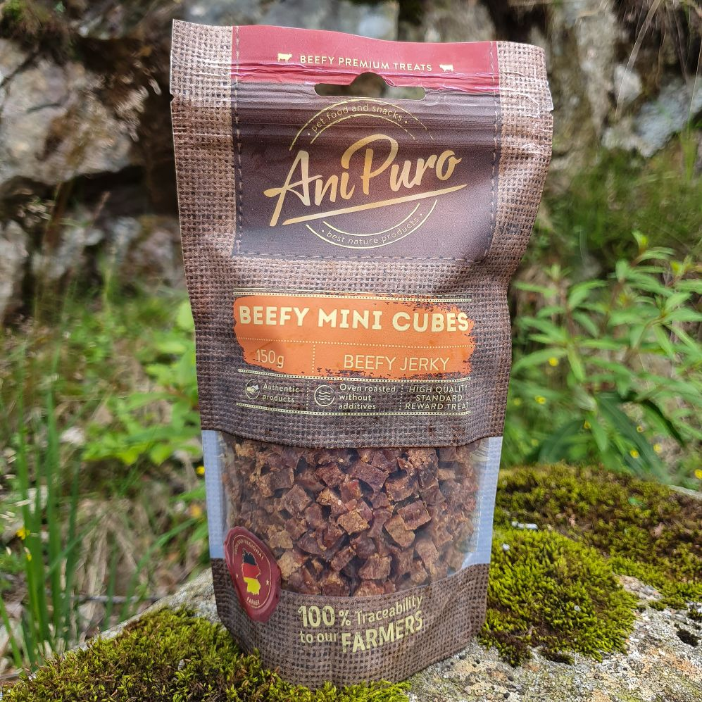 AniPuro beef mini cubes 150gr