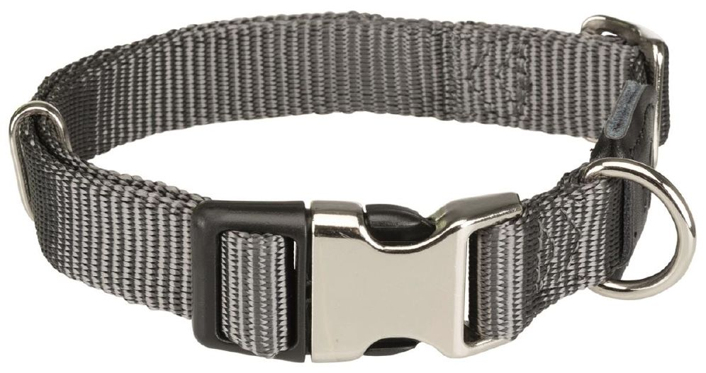 Halsbånd premium 34-52cm/20mm grå