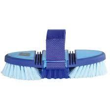 Softgrip flexi børste m/stropp blå