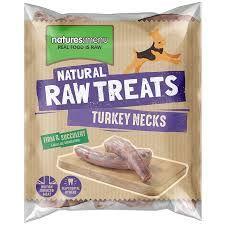 NM Raw treats frozen turkey necks