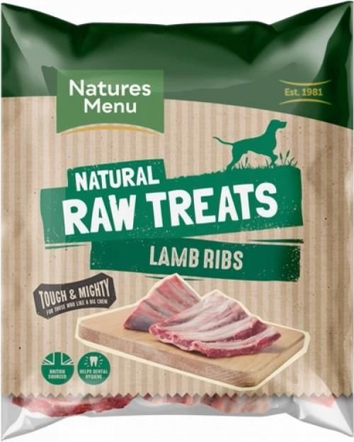 Natural Raw treats frozen lamb ribs