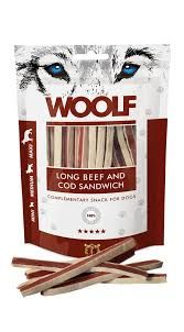 Woolf long beef and cod sandwich 100gr