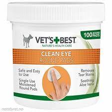 Vets Best Clean pads til øyne 100stk