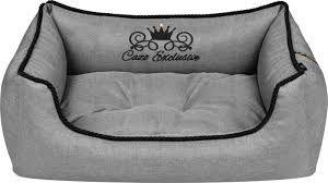Cazo bed soft royal line grey 75x60cm