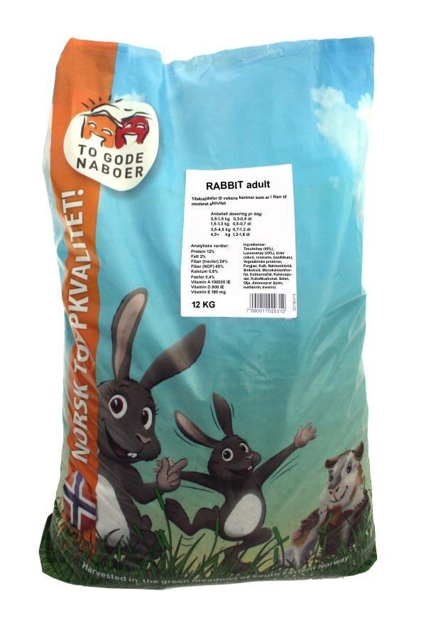 To gode naboer rabbit adult 12kg