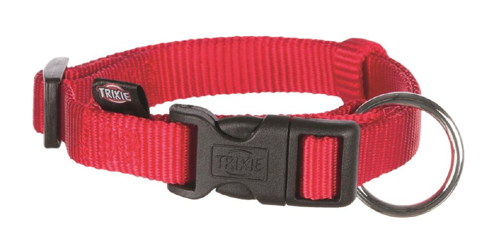 Trixie halsbånd nylon rød xs-s 22-35cm