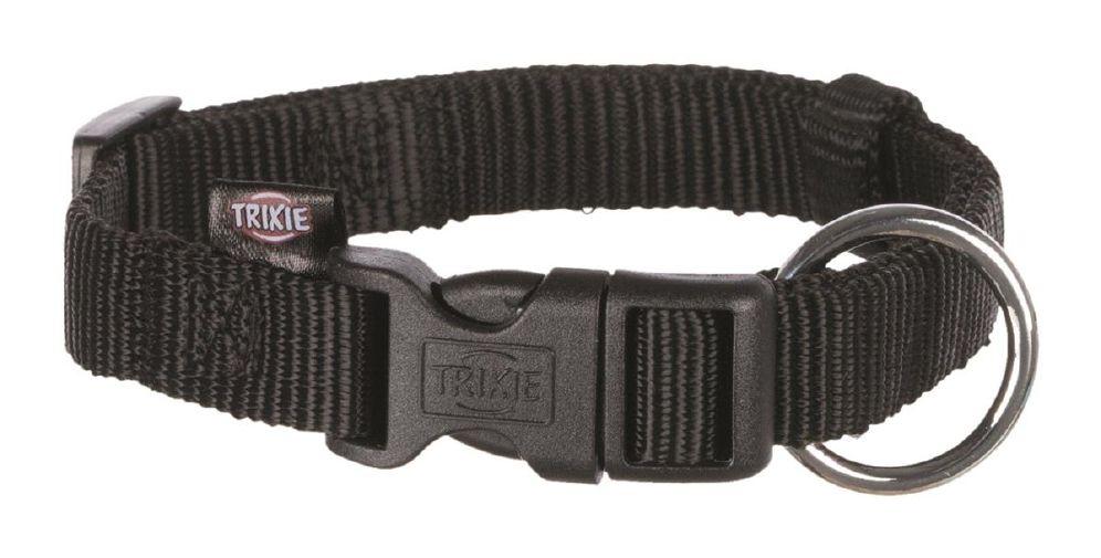 Trixie halsbånd nylon svart xs-s 22-35cm