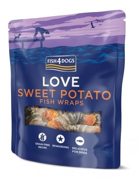 Fish4dogs Sweet potao fish wraps 100gr