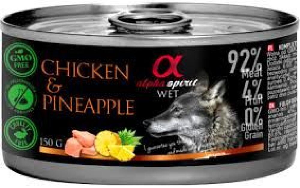 Alpha spirit chicken m/pinapple 150gr