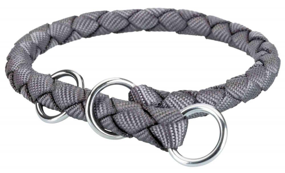 Halsbånd cavo 35-41cm 12mm s/m grå