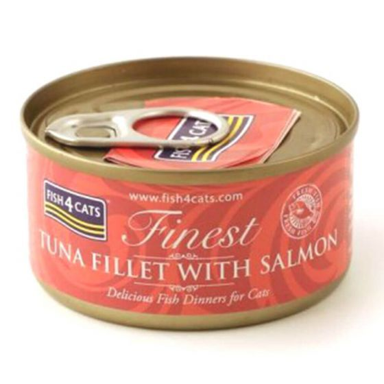 Fish4Cats Finest med tunfisk og laks 70g