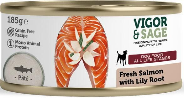 Våtfôr Lily Root & Fresh Salmon 185g