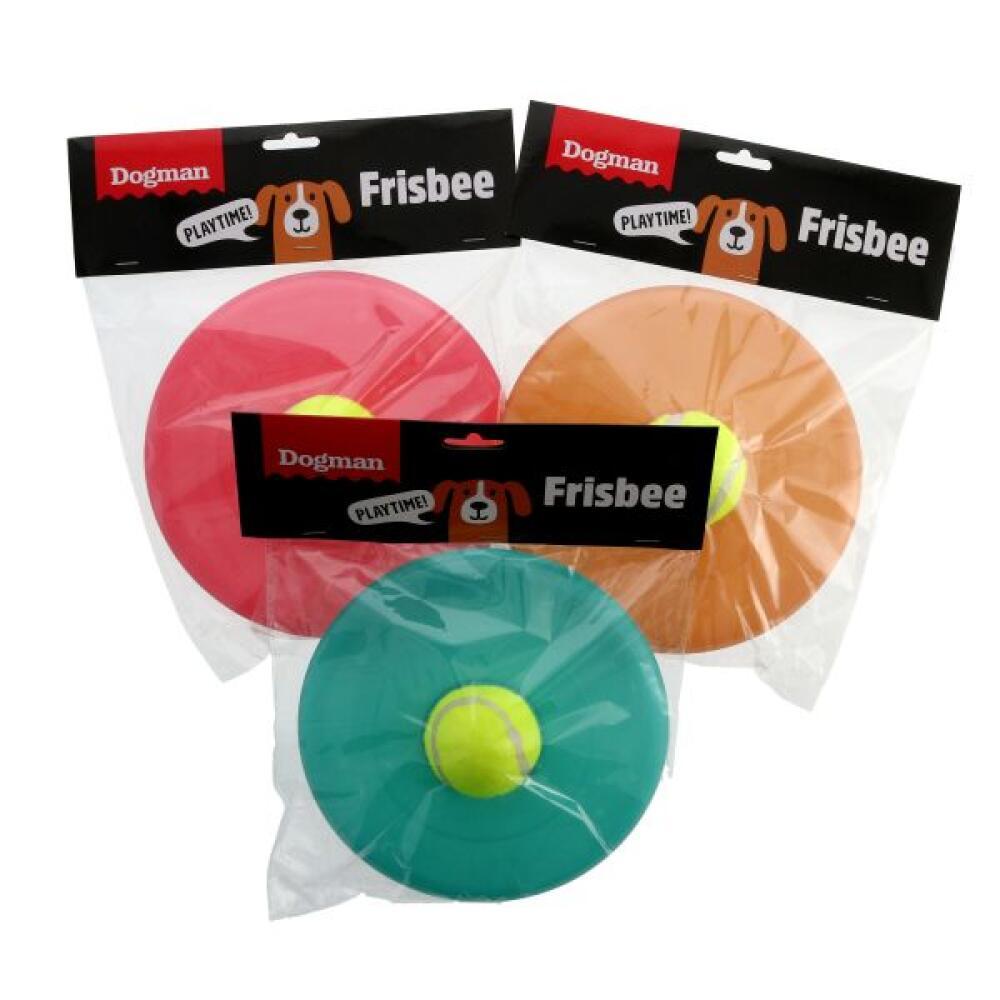 Hundeleke Frisbee m tennisball M 22cm