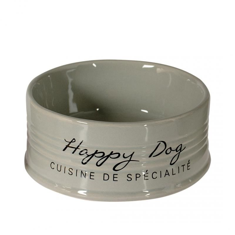 Keramikk Happy Dog Ø18,5cm Grå