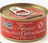 Fish4Cats Finest med tunfisk & prawn 70g