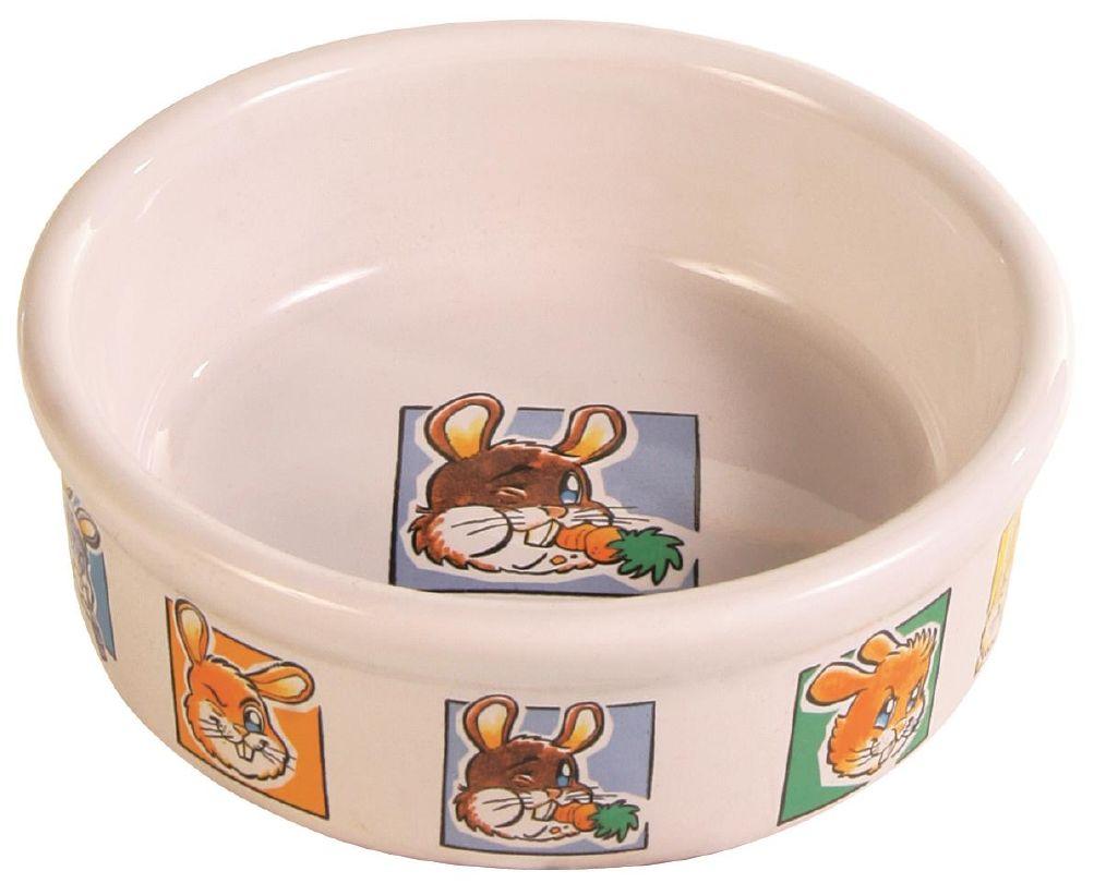 Matskål Porselen M/Motiv Kanin 30ml 11,5