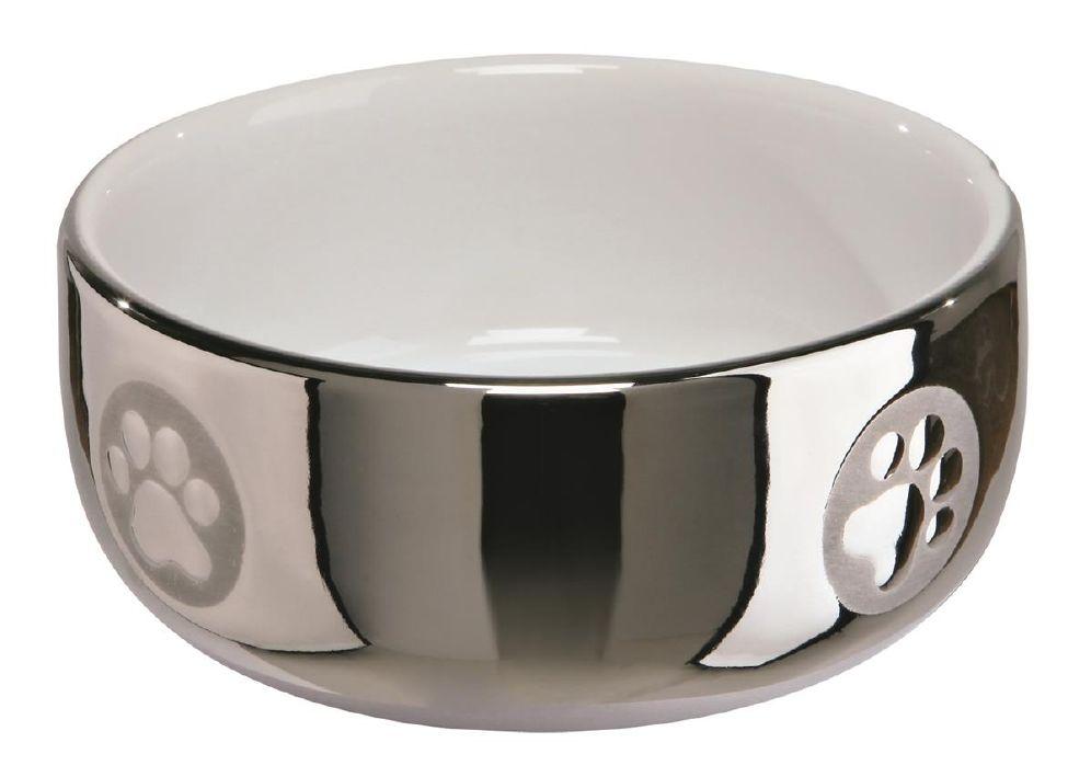 Katteskål 24799 Keramikk Sølv/Hvit 0,3L