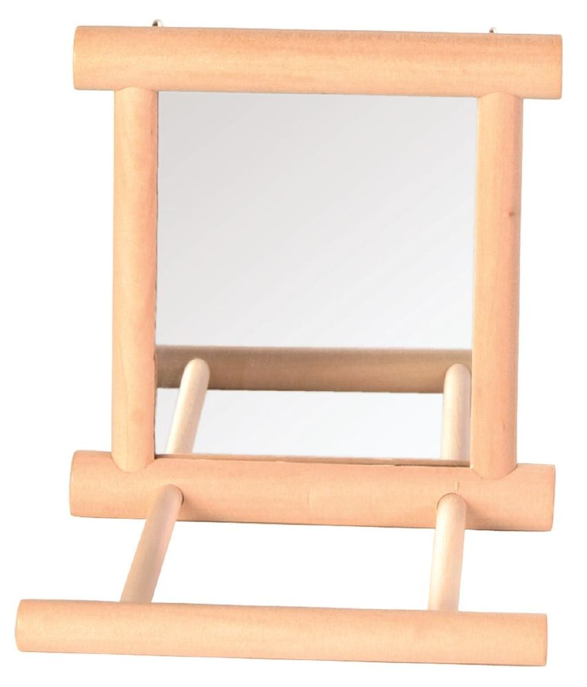 Fugleleke Speil M/Sittepinne i Tre
