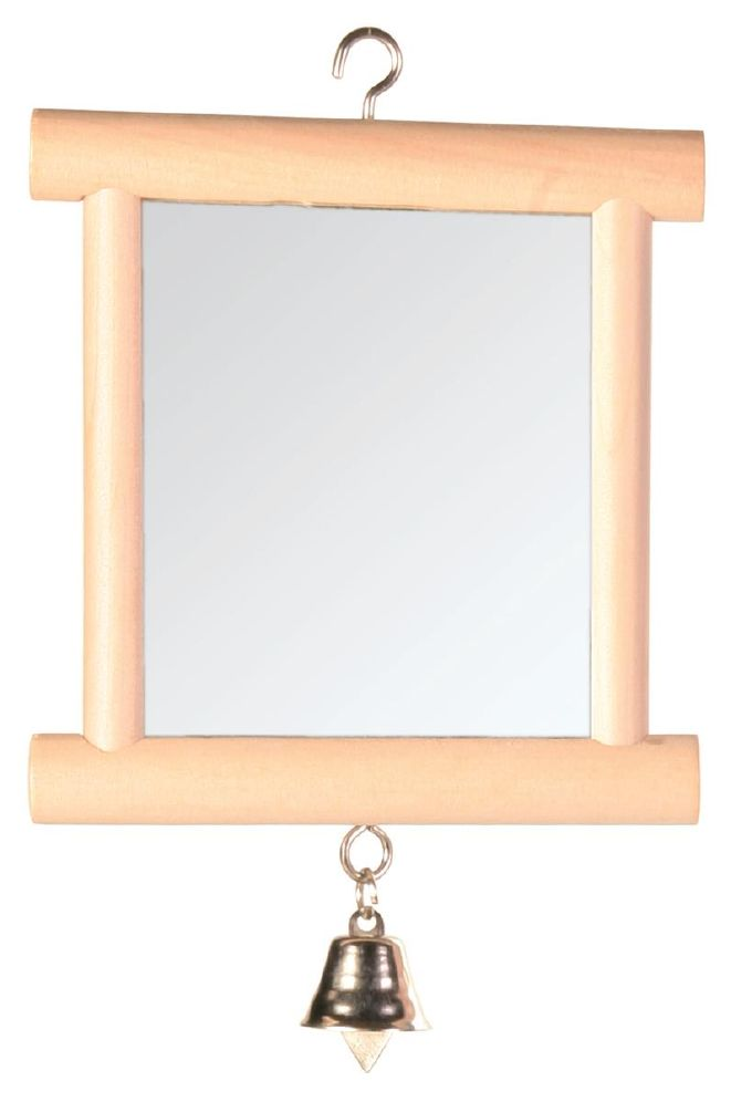 Fugleleke speil M/Treramme 9x10cm
