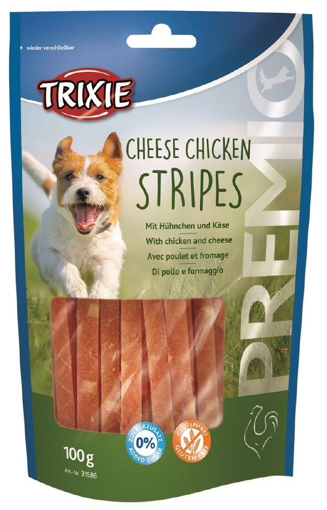 Trixie Chicken Cheese Stripes 100g