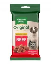 Natures Menu treats dog beef